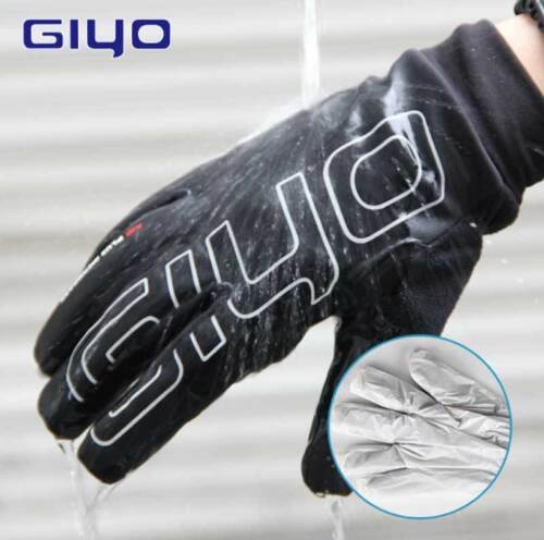 GIYO Bike Touch Screen Winter Gloves Warm Fleece Bicycle Full Finger Waterproof