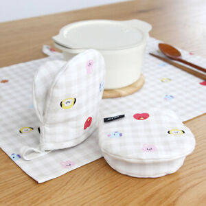 BTS BT21 Official Goods Baby Check Kitchen Gloves 2ea + Tracking number