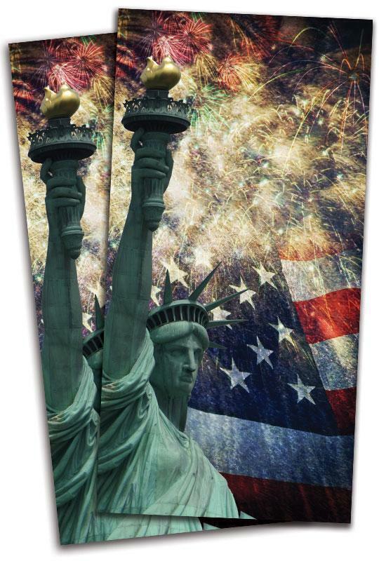 Statue of Liberty Patriotic Cornhole Bag Toss Wrap Set