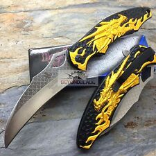DARK SIDE BLADES Gold Dragon Folding Rescue Pocket Hunting Knife DS-A007GD