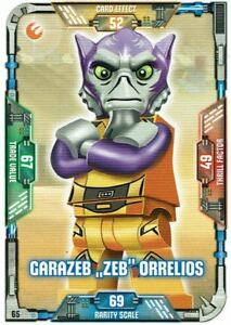 Lego-Star-Wars-Serie-1-Cartas-Coleccionables-Tarjeta-65-Garazeb-034-Zeb-034