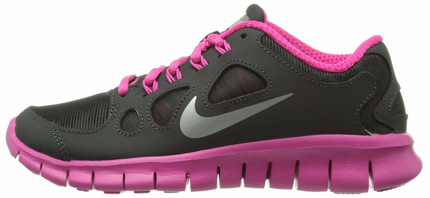 Nike Free 5.0 Shield Price reduction 616698 001 charcoal pink size 4.5y Youth