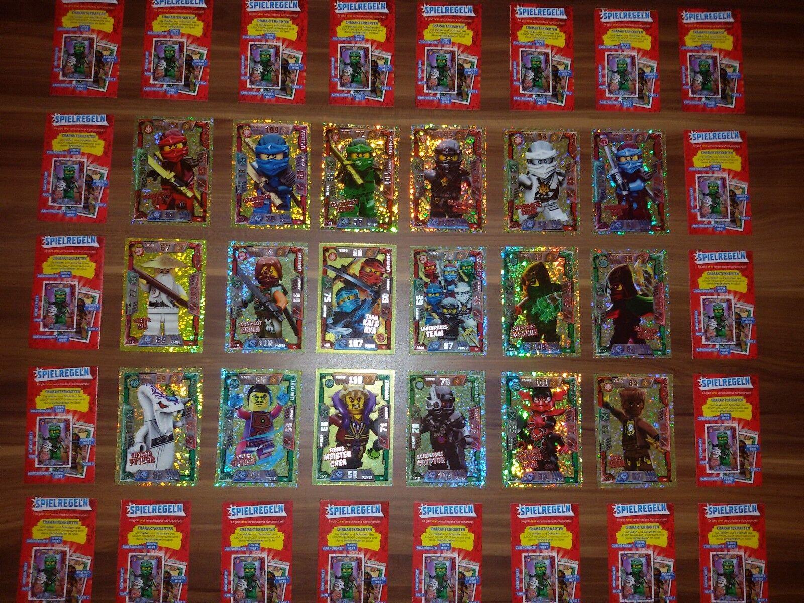 Lego Ninjago Trading Cards Serie 2  18 LE Karten LE 1 bis LE 18