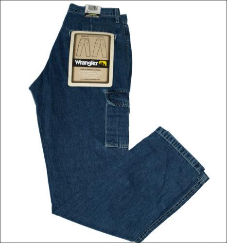 BNWT Autentico WOMEN/'S VALLEY Wrangler Cargo Combat Jeans Blu Trail Fit