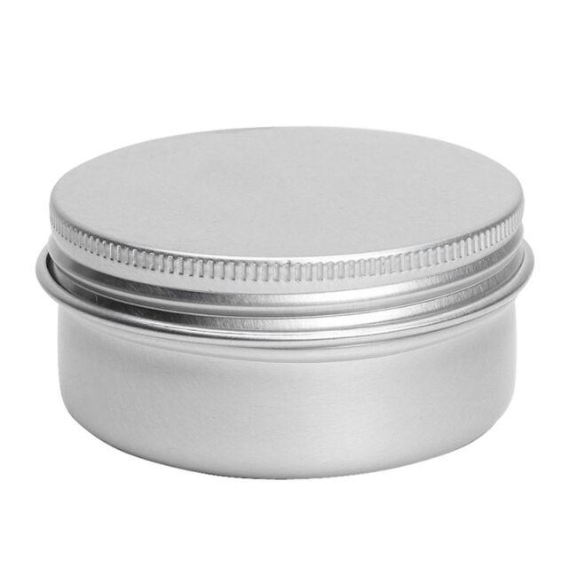 M9A8 Balm Nail Art Cosmetic Cream Make Up Pot Lip Tin Case Container 5 Pcs 50ml