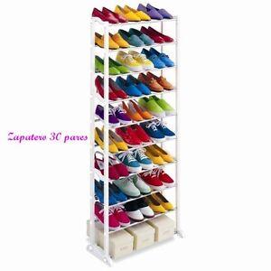 ZAPATERO 30 PARES AJUSTABLE TV 10 altura GUARDA ZAPATOS MUEBLE Shoe Rack oferta