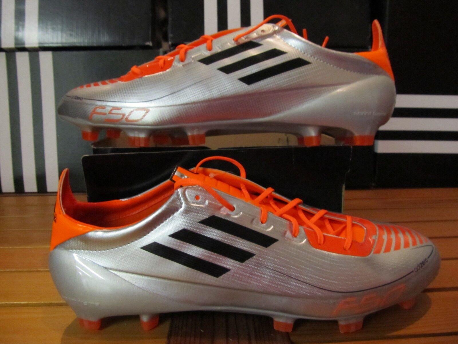 Ds Adidas F50 Adizero TRX Fg Plata Naranja 12 G43961 Fútbol Tacos Messi Mania