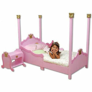 Kidkraft 76121 Kids Pink Princess Wooden Toddler Bed Cot