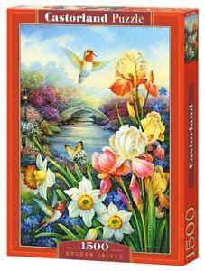 "Brand New Castorland Puzzle 1500 Golden Irises 27"" x 18.5"" C-151509"