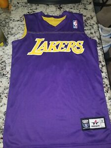 Details about NBA Lakers Jersey # 13 Size Youth Medium Alleson Athletic Wilt Chaimberlan