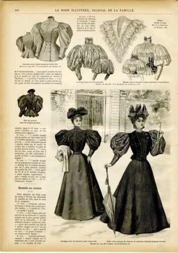MODE ILLUSTREE CLOTHING PATTERNS Sept 22,1895  ladies /& child dresses