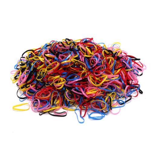 1000XLot Elastic Hair Band Braiding Rubber Bands Tiny Hair Rope Holder HaririnCI