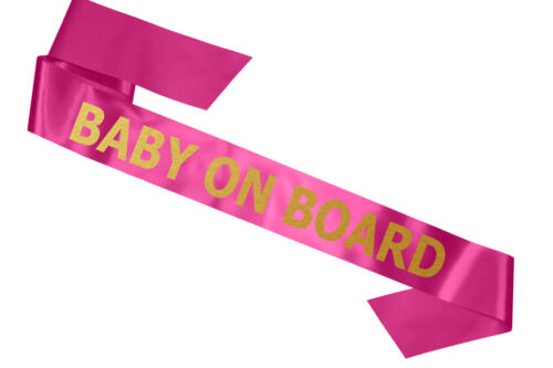 New Luxury Baby on Board Baby Shower Sash in Pink Its a Girl Gift Mum to Be
