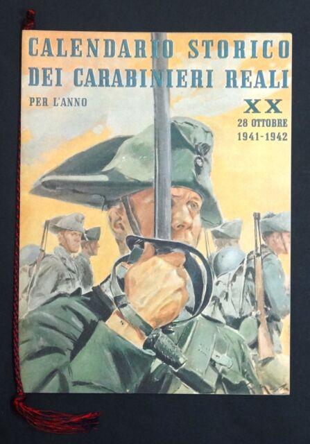Calendario Arma Carabinieri anno 1974 Ristampa