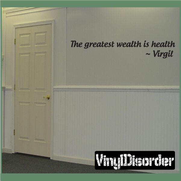 La mayor riqueza cotización de parojo de salud es  Virgil Mural Calcomanía-homegymquotes 08