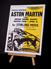 ASTON MARTIN/MOSS (Y) CANVAS PRINT STRETCHED AND FRAMED