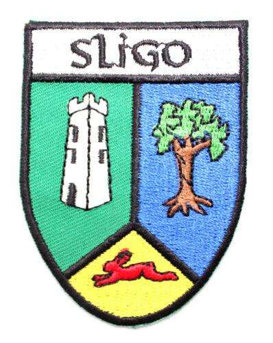 Irish Sligo County Crest Shield Embroidered Sew-on Cloth Badge Patch Appliqué