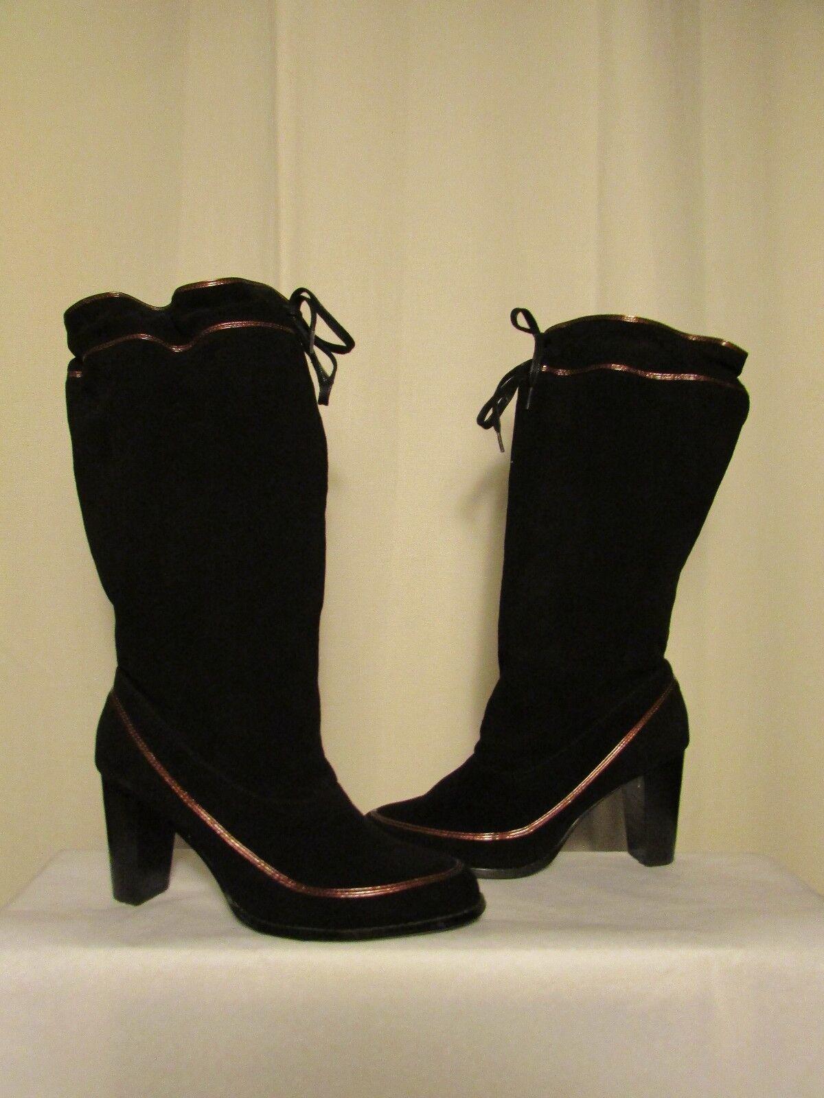 bottes MELLOW YELLOW daim noir noir daim 39 fcffc4