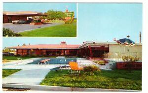Undated-Unused-Postcard-Holiday-Inn-Pasacagoula-Mississippi-MS-2-views-pool