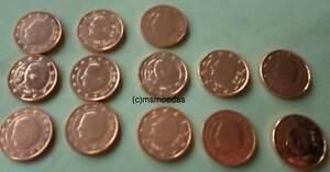 Belgien 13 X 5 Cent Euro Münzen 19992003200420052006 2010 Bis
