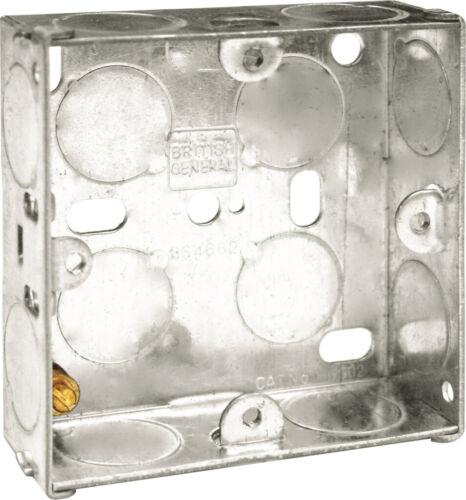 25 mm 10x BG Unique Métal 1 Gang BACK CASE FOR Wall Prises et Interrupteurs