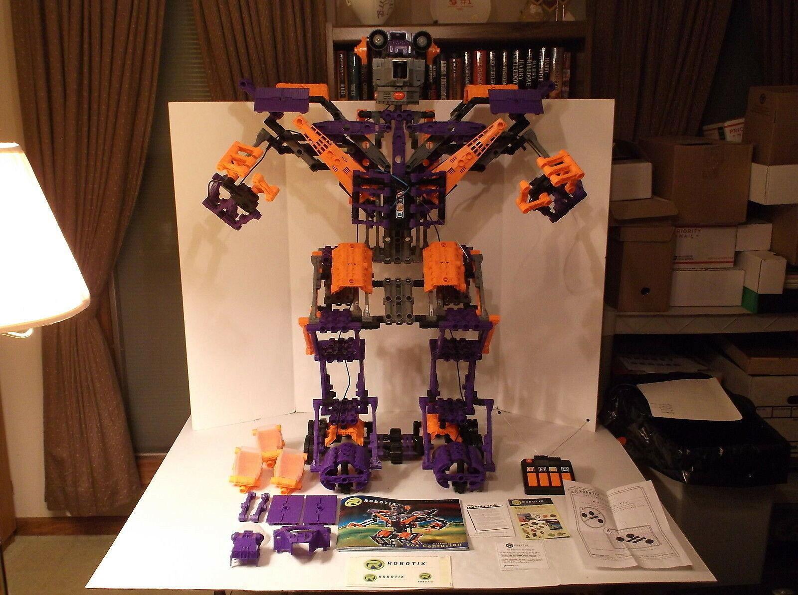 1999 Learning Curve Robotix Vox Centurion Robot Building Set Complete Works