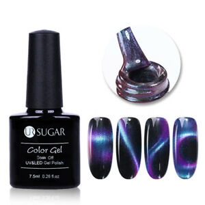7-5ml-3D-Chameleon-Cat-Eye-Magnetische-Soak-Off-UV-Gel-Nagellack-Dekor-UR-SUGAR