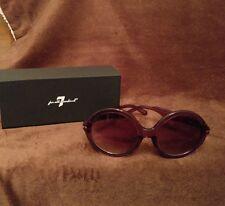 7 for All Mankind Sunglasses Cat Eye Round Designer Purple Purcr 7900