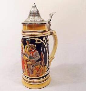 antique german beer steins