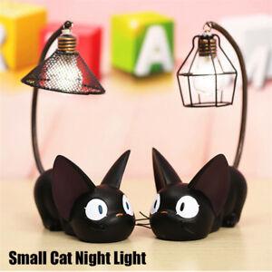 Mini Cute Black Cat Night Light Table Lamp Home Bedroom Decoration