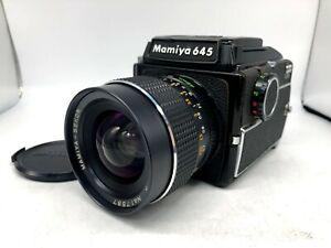 FedEx-EXC-5-Mamiya-M645-Waist-Level-Finder-Sekor-C-45mm-F2-8-Lens-From-JAPAN