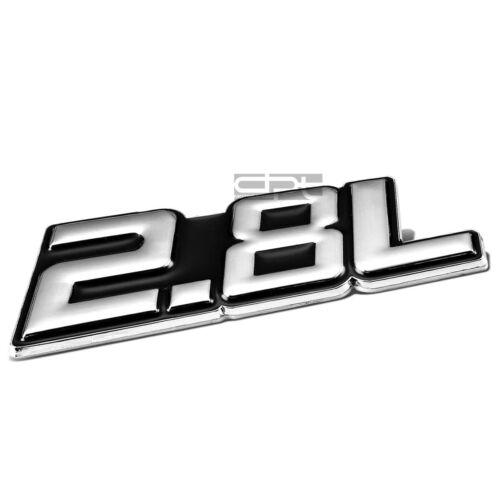 METAL BUMPER BODY GRILL FENDER EMBLEM DECAL LOGO BADGE CHROME BLACK 2.8 2.8L