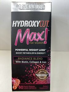 HYDROXYCUT MAX ! For Women Powerful Weight Loss, 60 Liquid Capsule 06/2022