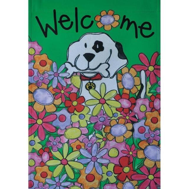 "Rain or Shine Art Large Porch Flag Dogs Fall 28/"" x 40/"" Flag NEW"