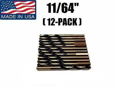 "12-PACK 11//64/"" 86990 Norseman  Viking USA Drill Bit Super Prem Mechanic Length"