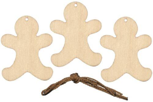 madera weihnachtsbaumschmuck remolque de madera para pintar nuevo Jengibre 12 pzas