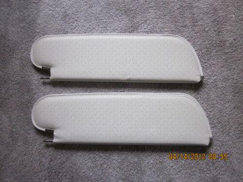 1971-72 grand prix single pin sun visors white perforated