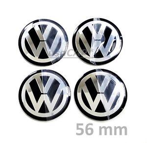 vw stickers 56mm wheel center hub cap decal emblem. Black Bedroom Furniture Sets. Home Design Ideas