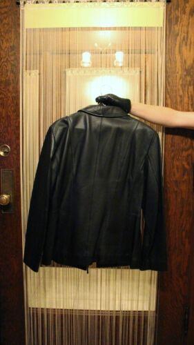 Lambskin Black Læder Large Worthingtons Frakke Women's HEqw4