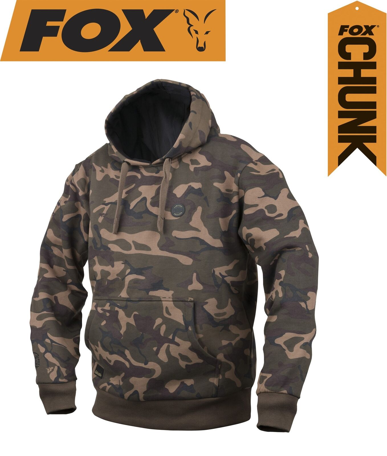Fox Fox Fox Chunk Camo Lined Hoody Pullover Angelpullover Kapuzenpulli Angelkleidung 149ae1