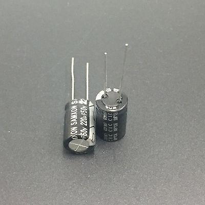 10pcs 220uF 50V NCC LXV 10x25mm 50V220uF Low Impedance Long Life Capacitor