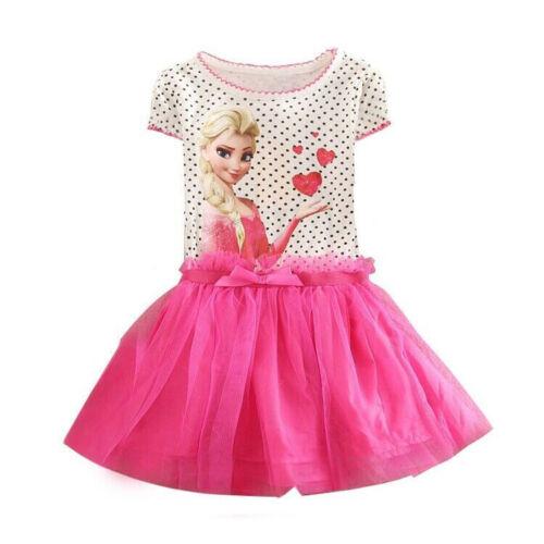 Elsa Kids Girl Dress Snow Queen Dresses Children Clothing Casual Outfit Garments
