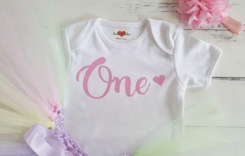 Baby Tutu Outfit 1st pink Birthday Girls Baby One Vest Set Photo Prop Cake Smash