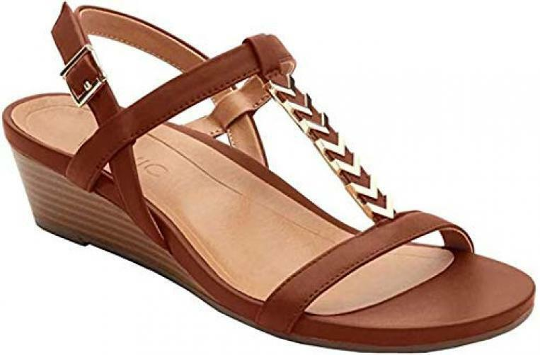 Vionic Womens Port Cali Open Toe Casual Ankle Strap Sandals