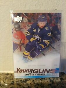 2019-20 Upper Deck Series 2 Hockey Clear Cut Acetate Young Guns Rasmus Asplund