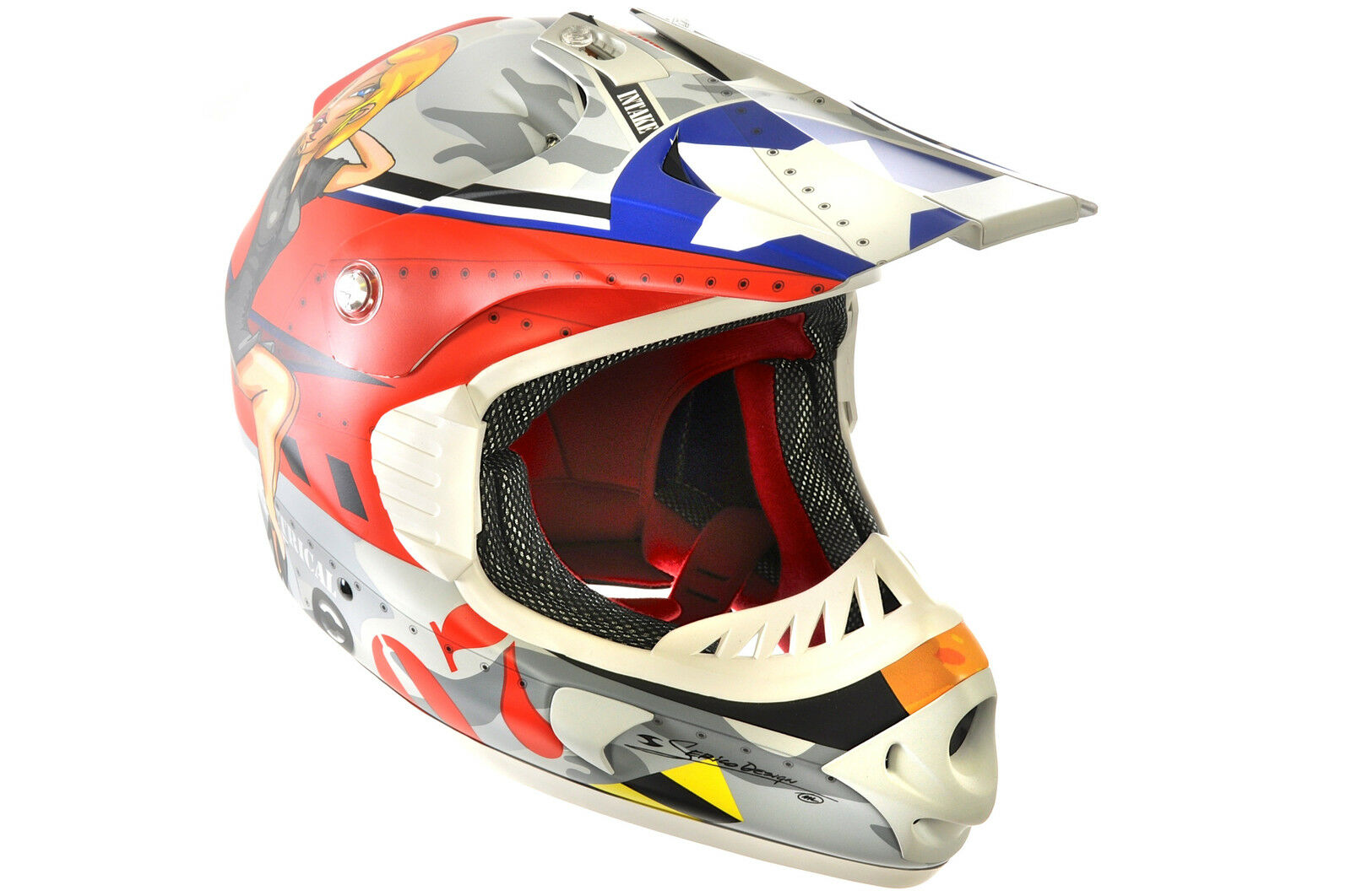 FULL FACE FIBREGLASS BIKE BICYCLE  HELMET B.E. HOTTER LARGE 59-60cm MULTI COL  hot limited edition