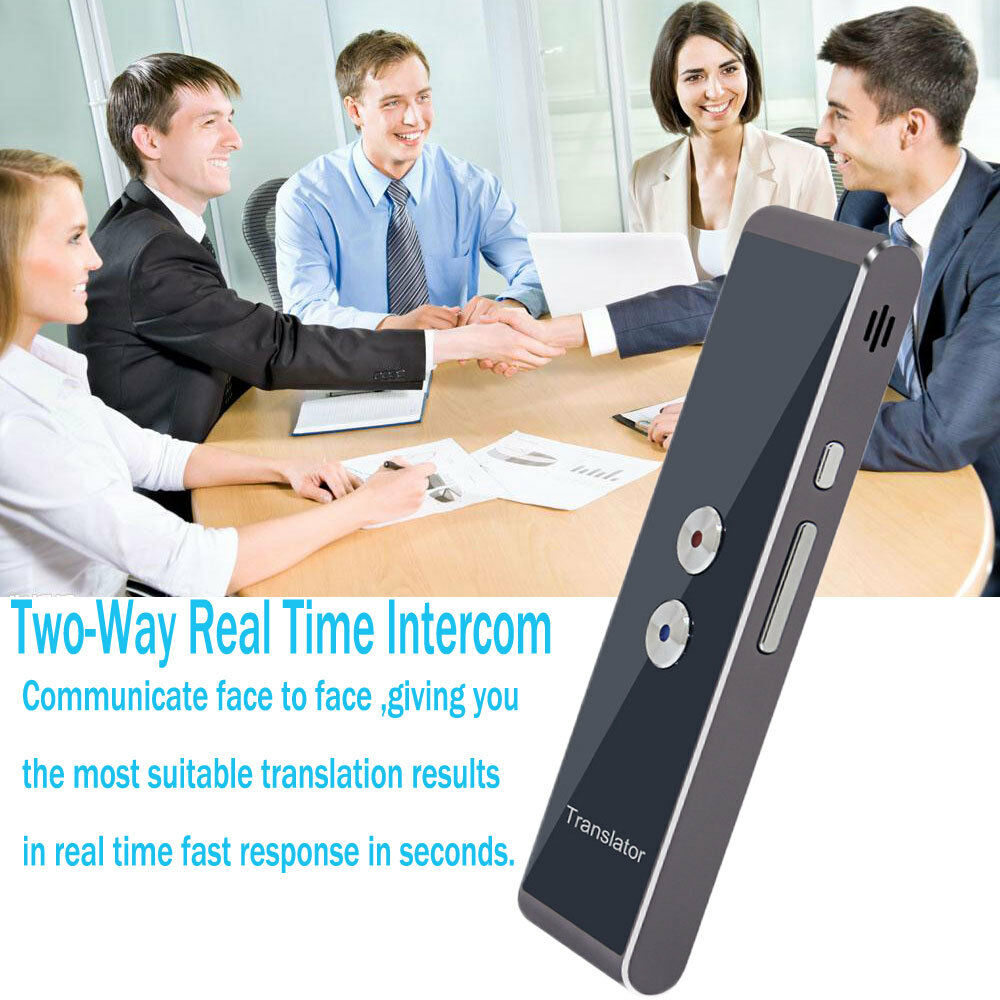 Portable Smart Voice Translator Two-Way Real Time Multi-Language Translation HQ