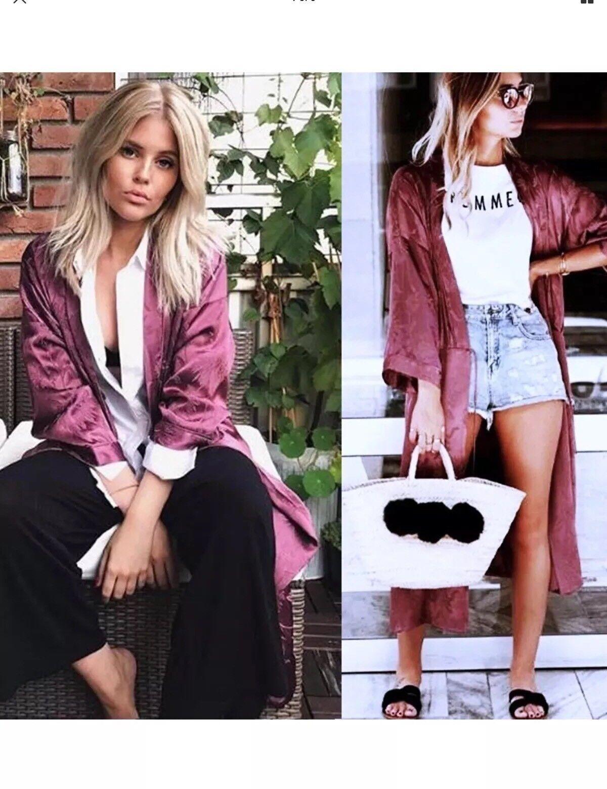 ZARA Jacquard Kimono Kimono Kimono Größe S UK 8 10 Echt Zara | New Style  | Verschiedene Arten Und Die Styles  | Zuverlässige Leistung  082efe