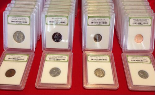 Uncirculated Old Coins✯ 10 COINS Coins Estate Sale ✯ Proof BU Slabbed U.S