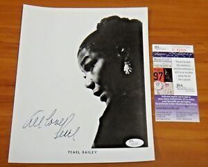Pearl Bailey Actress Singer Signed Autograph 8x10 Photo JSA COA